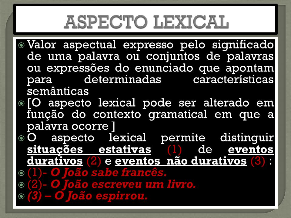 ASPECTO LEXICAL