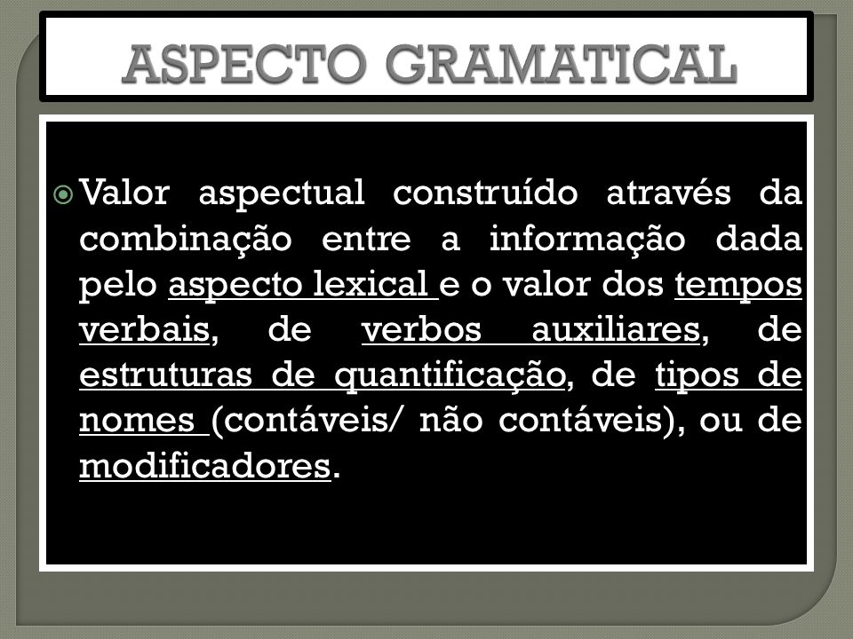 ASPECTO GRAMATICAL