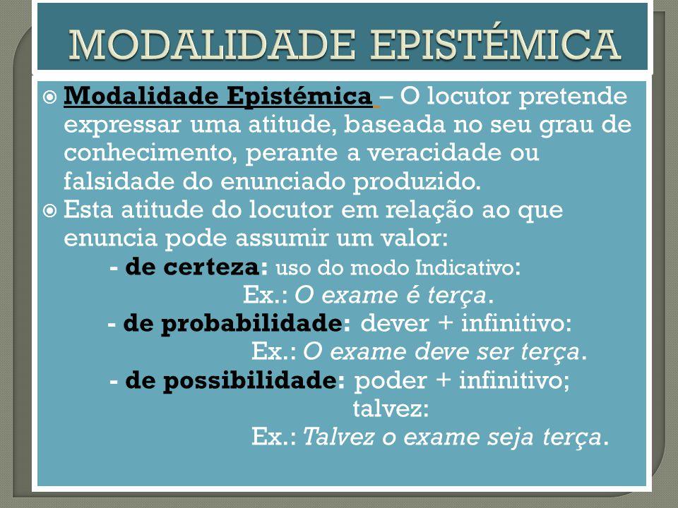 MODALIDADE EPISTÉMICA
