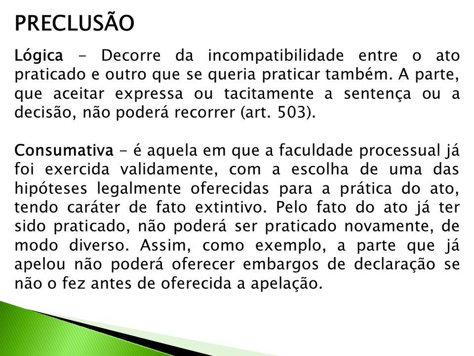 PRECLUSÃO