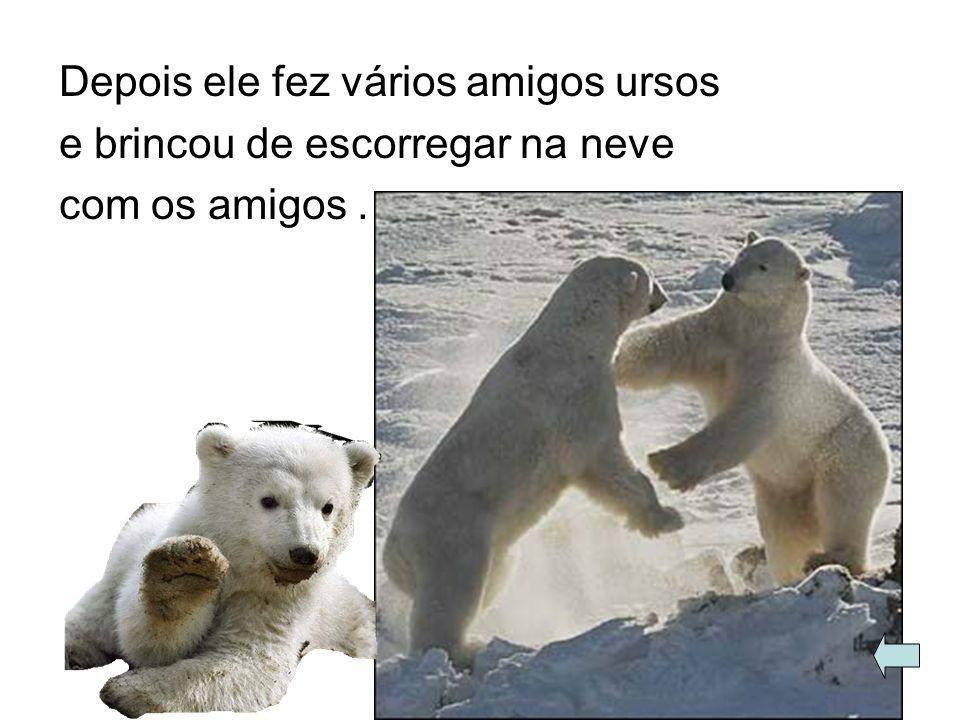 Depois ele fez vários amigos ursos