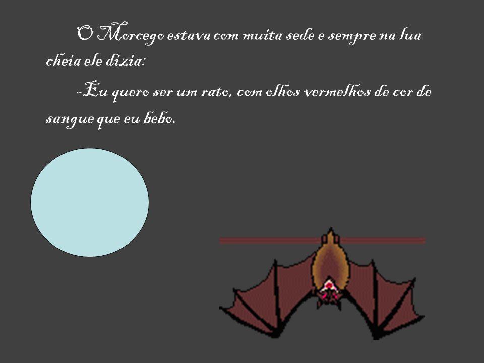 O Morcego estava com muita sede e sempre na lua cheia ele dizia: