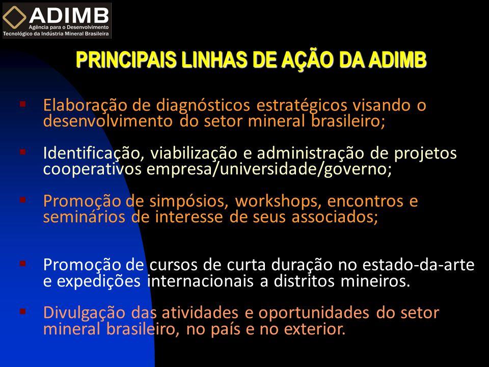PRINCIPAIS LINHAS DE AÇÃO DA ADIMB