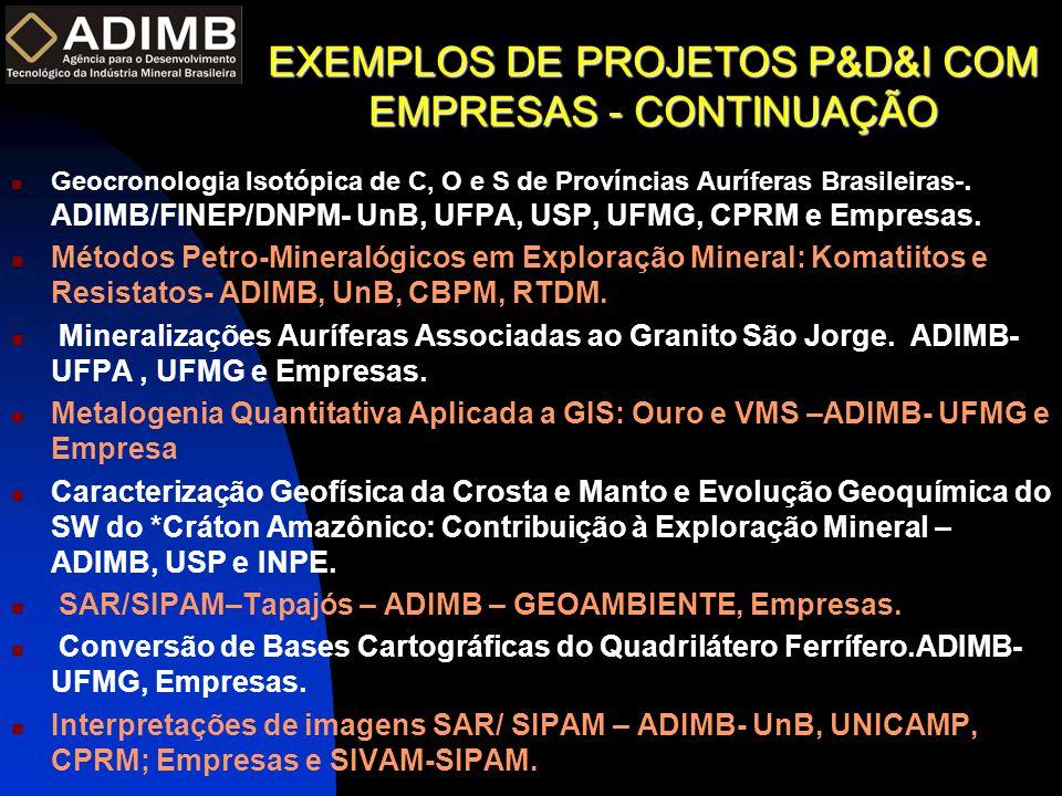 EXEMPLOS DE PROJETOS P&D&I COM EMPRESAS - CONTINUAÇÃO