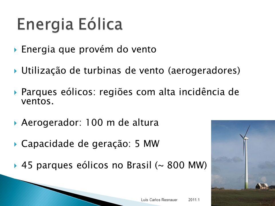Energia Eólica Energia que provém do vento
