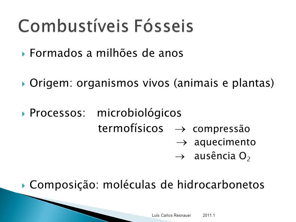 Combustíveis Fósseis Formados a milhões de anos