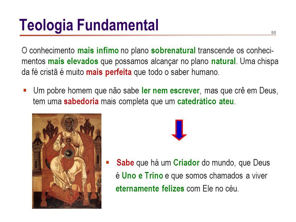 Teologia Fundamental No caso da fé sobrenatural, a testemunha