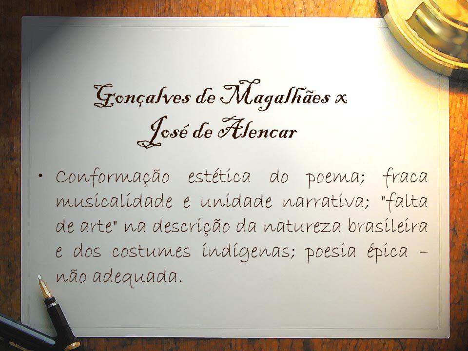 Gonçalves de Magalhães x José de Alencar
