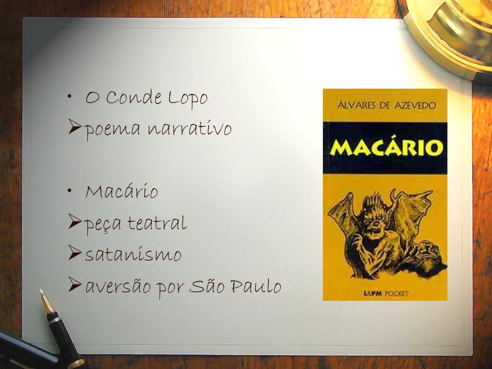 O Conde Lopo poema narrativo Macário peça teatral satanismo aversão por São Paulo