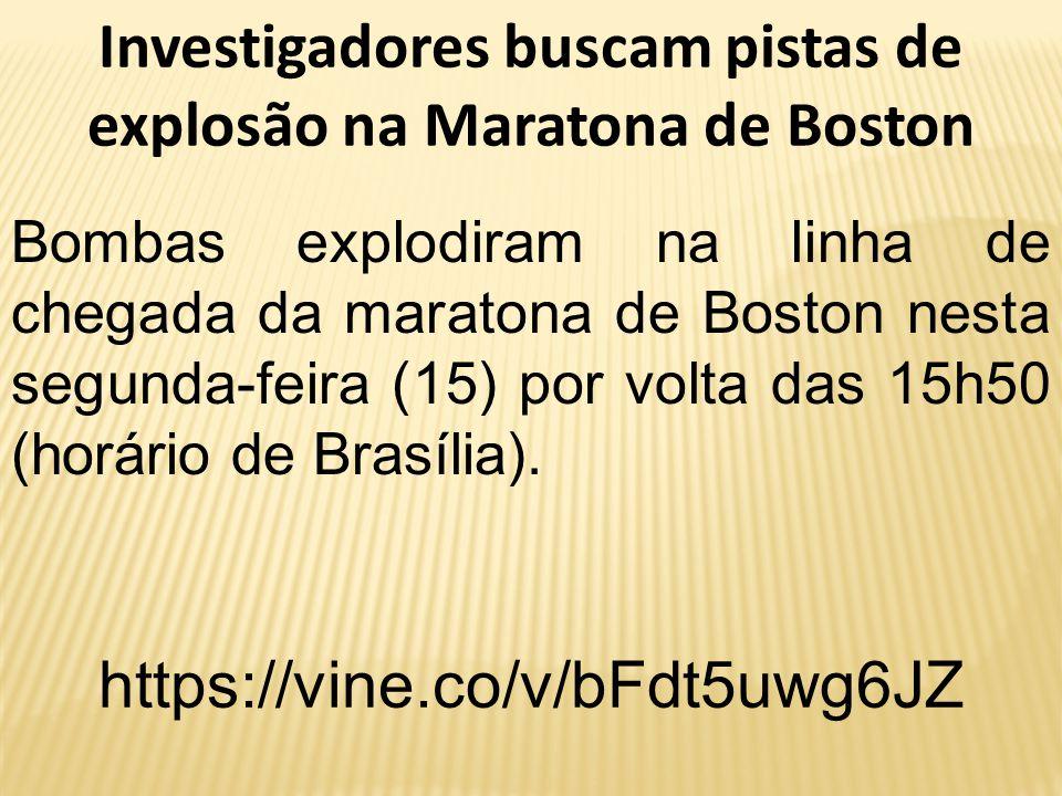 Investigadores buscam pistas de explosão na Maratona de Boston