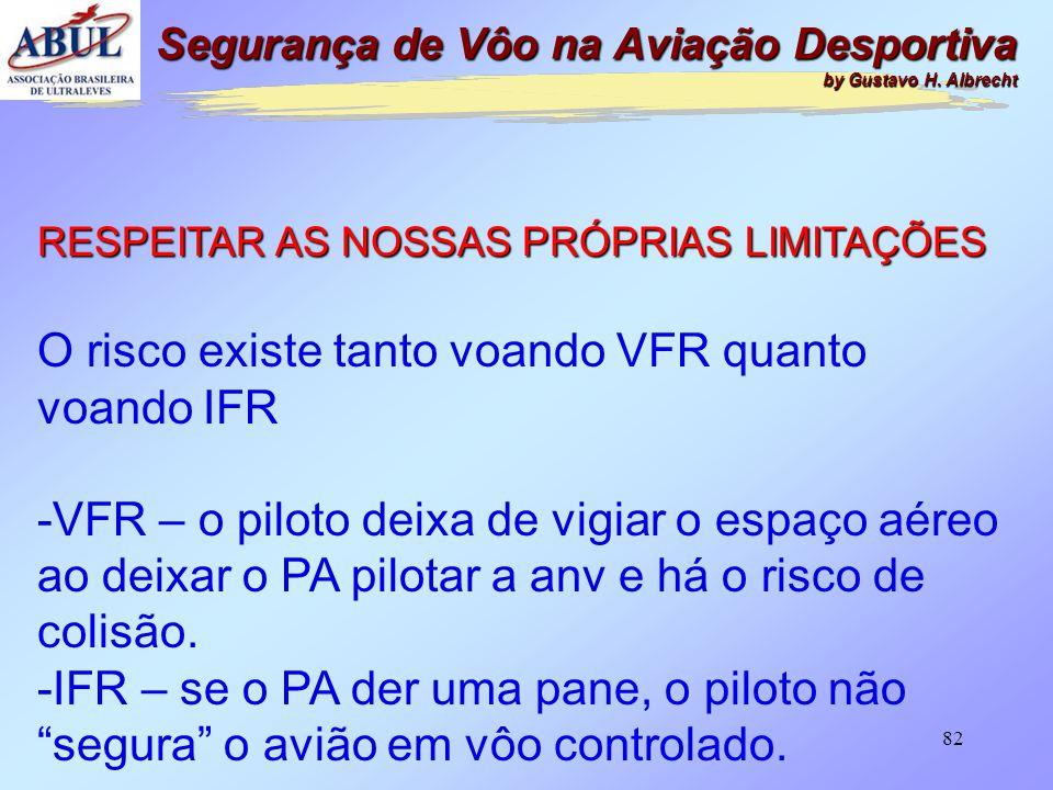 O risco existe tanto voando VFR quanto voando IFR