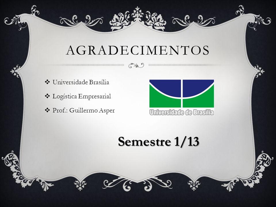 agradecimentos Semestre 1/13 Universidade Brasília