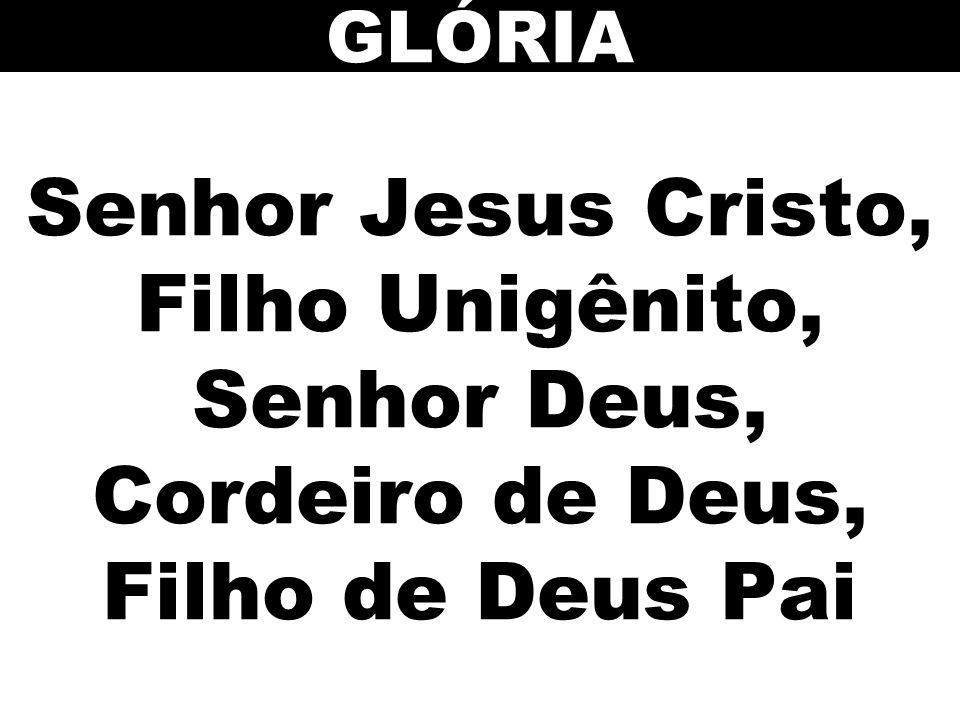 GLÓRIA Senhor Jesus Cristo, Filho Unigênito, Senhor Deus, Cordeiro de Deus, Filho de Deus Pai 12