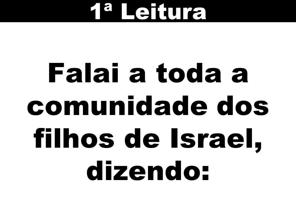 Falai a toda a comunidade dos filhos de Israel, dizendo: