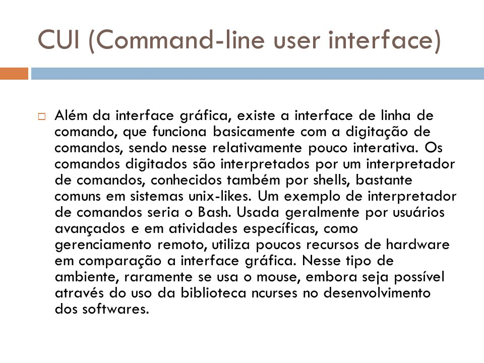 CUI (Command-line user interface)