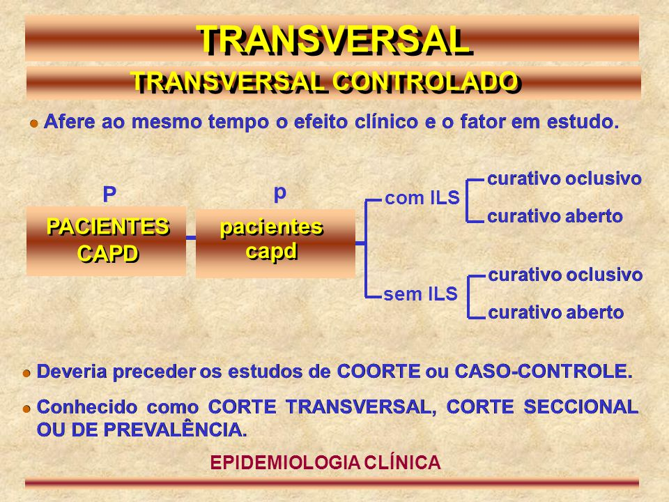 TRANSVERSAL CONTROLADO EPIDEMIOLOGIA CLÍNICA