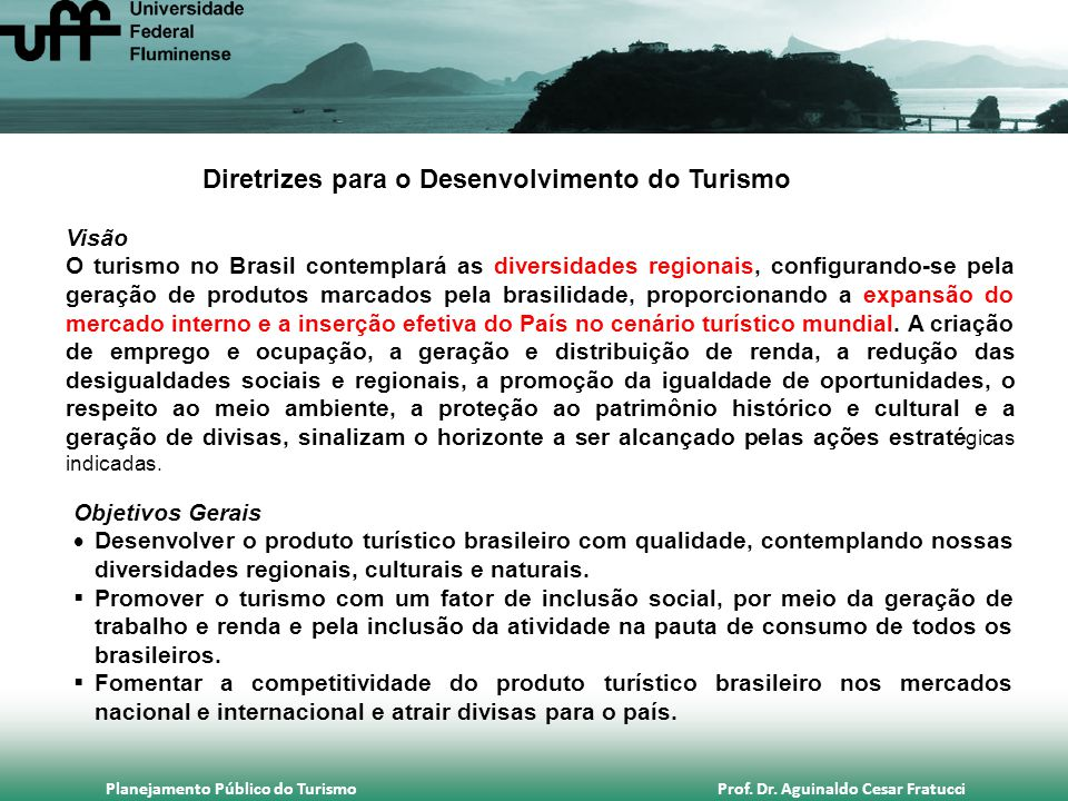 Diretrizes para o Desenvolvimento do Turismo