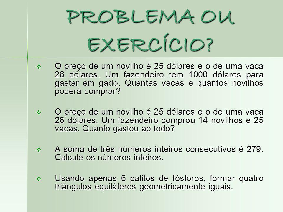 PROBLEMA OU EXERCÍCIO