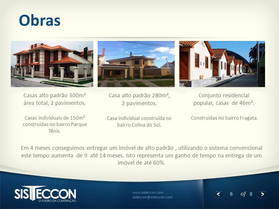 Obras Casas alto padrão 300m² área total, 2 pavimentos.