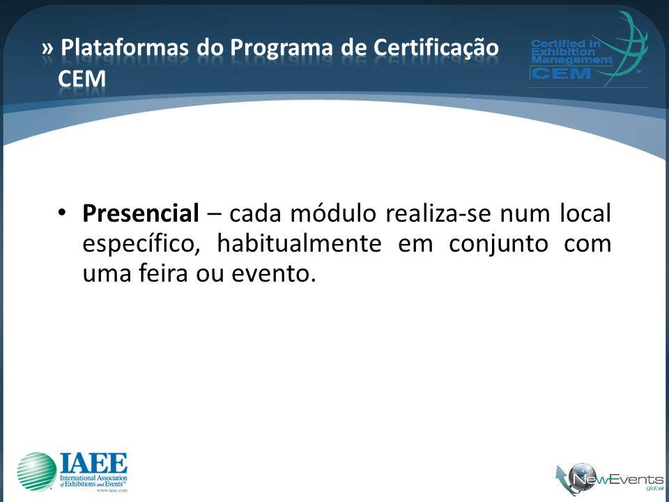 » Plataformas do Programa de Certificação CEM