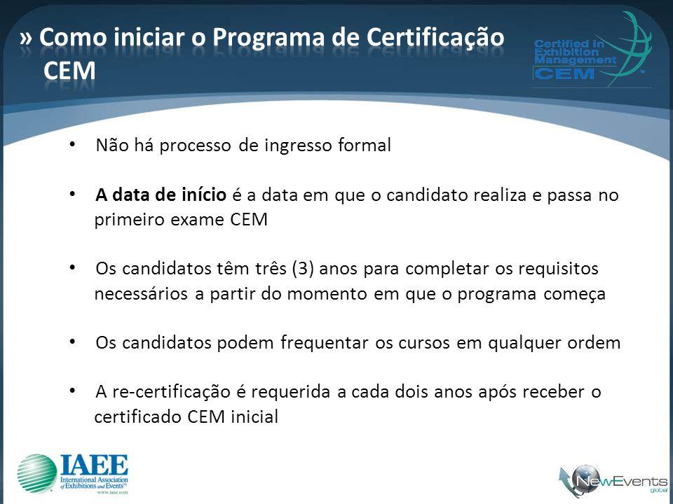 » Como iniciar o Programa de Certificação CEM