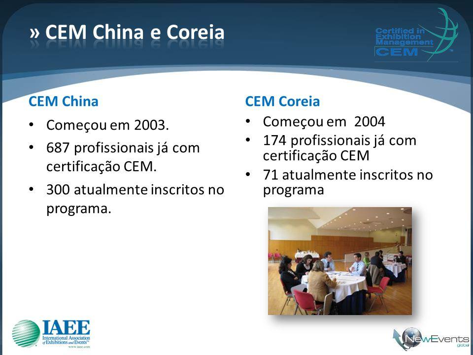 » CEM China e Coreia CEM China CEM Coreia Começou em 2003.