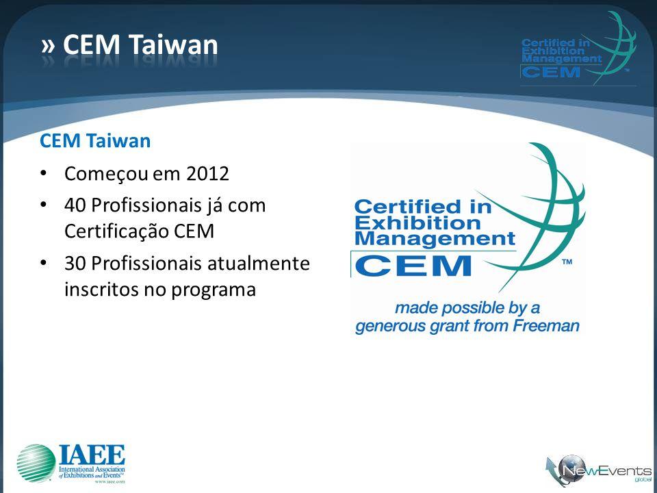 » CEM Taiwan CEM Taiwan Começou em 2012