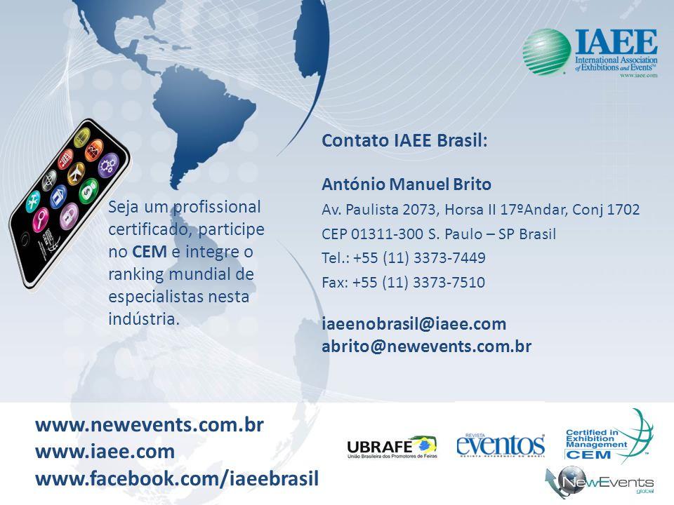 www.newevents.com.br www.iaee.com www.facebook.com/iaeebrasil