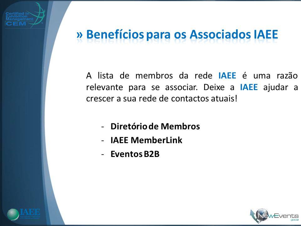 » Benefícios para os Associados IAEE