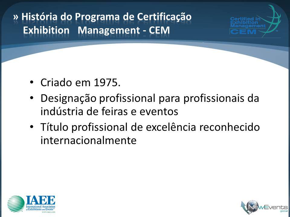 » História do Programa de Certificação Exhibition Management - CEM