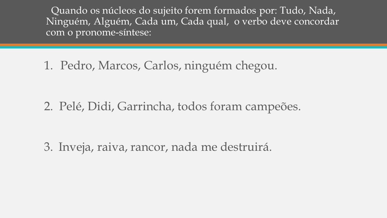 Pedro, Marcos, Carlos, ninguém chegou.