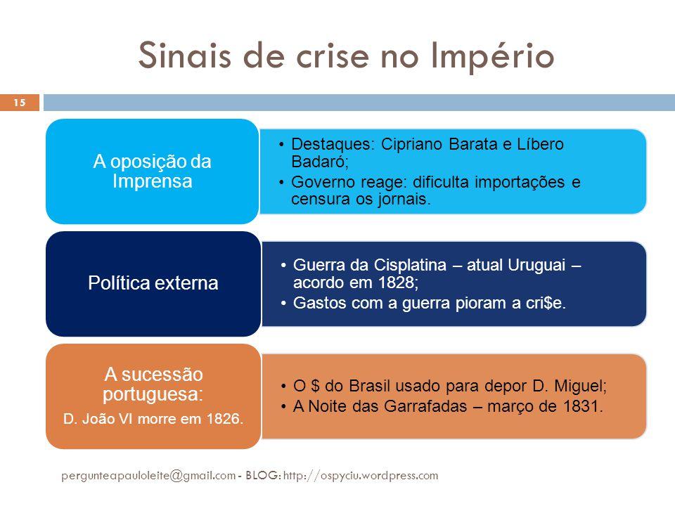 Sinais de crise no Império