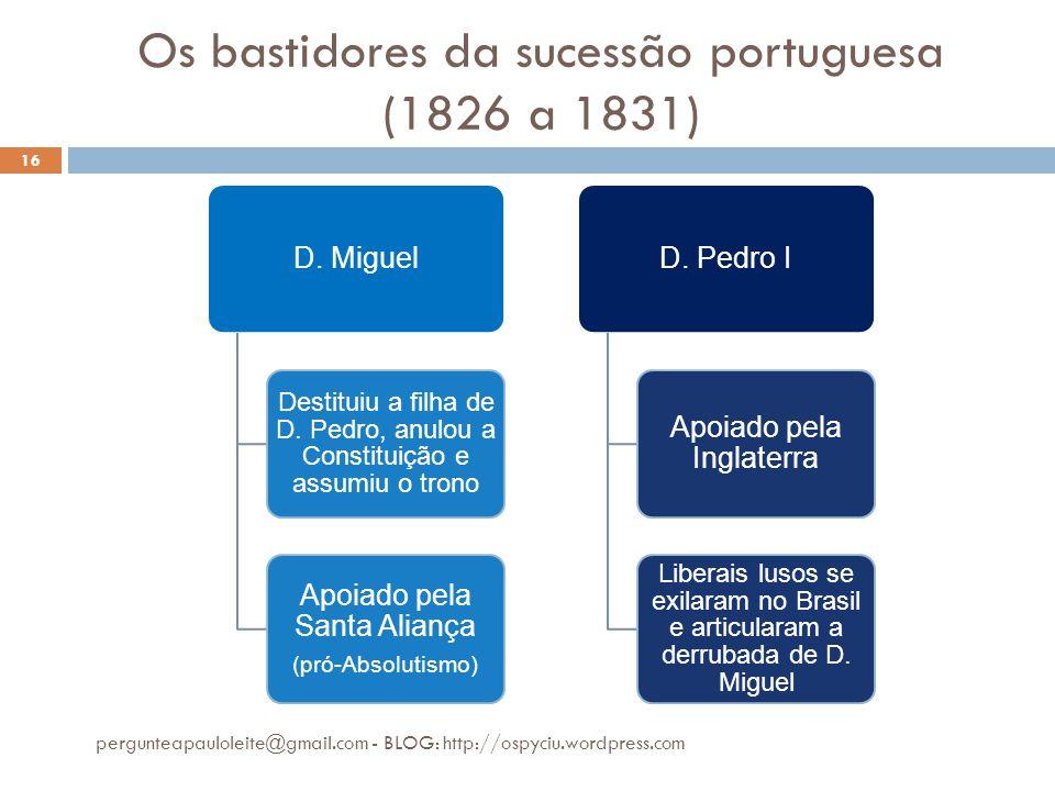 Os bastidores da sucessão portuguesa (1826 a 1831)