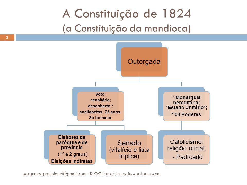 A Constituição de 1824 (a Constituição da mandioca)