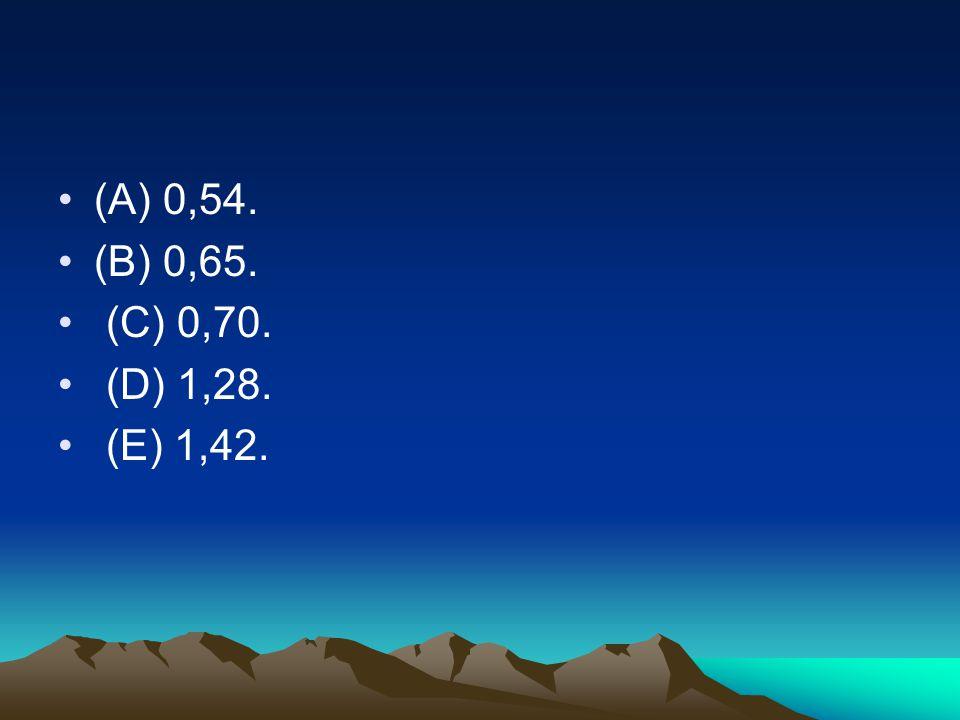 (A) 0,54. (B) 0,65. (C) 0,70. (D) 1,28. (E) 1,42.