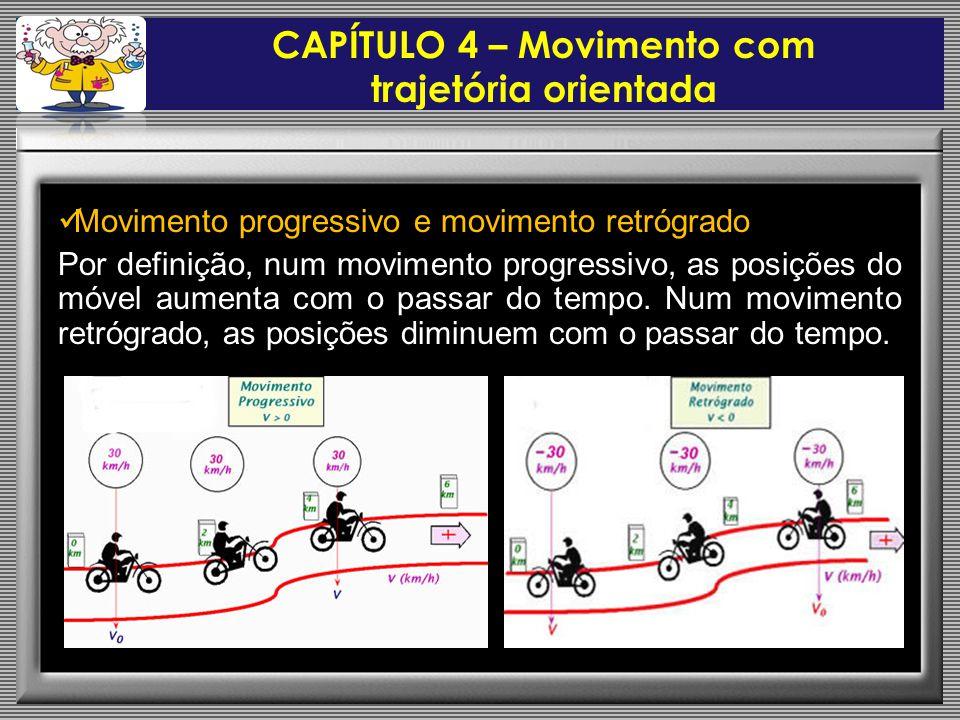 CAPÍTULO 4 – Movimento com trajetória orientada