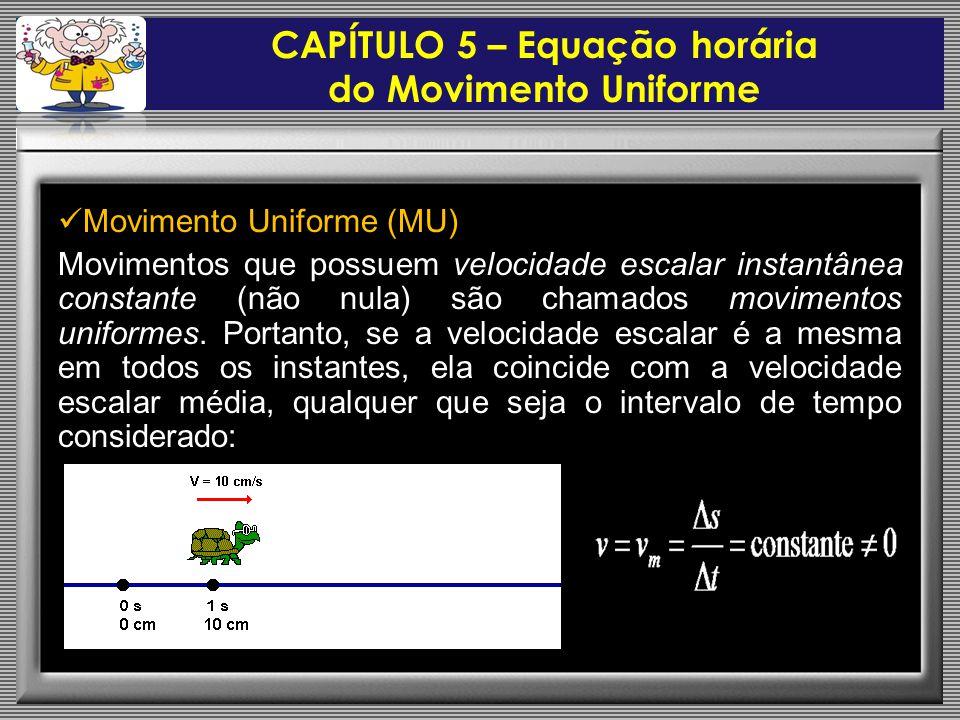 CAPÍTULO 5 – Equação horária do Movimento Uniforme