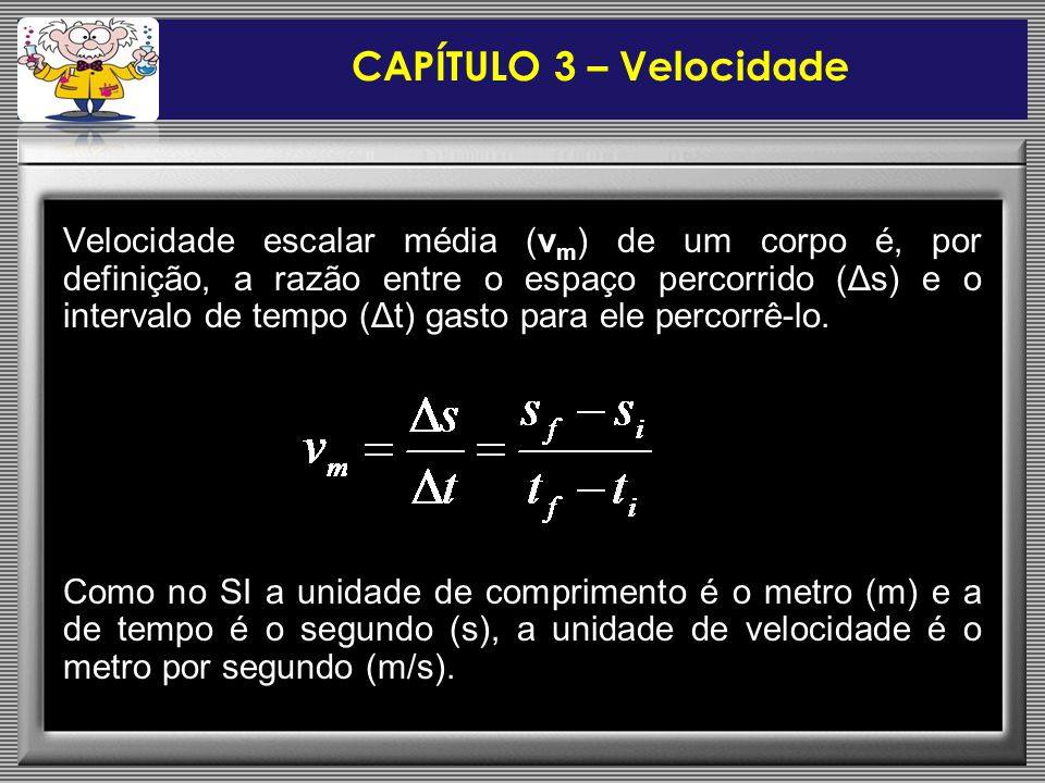 CAPÍTULO 3 – Velocidade