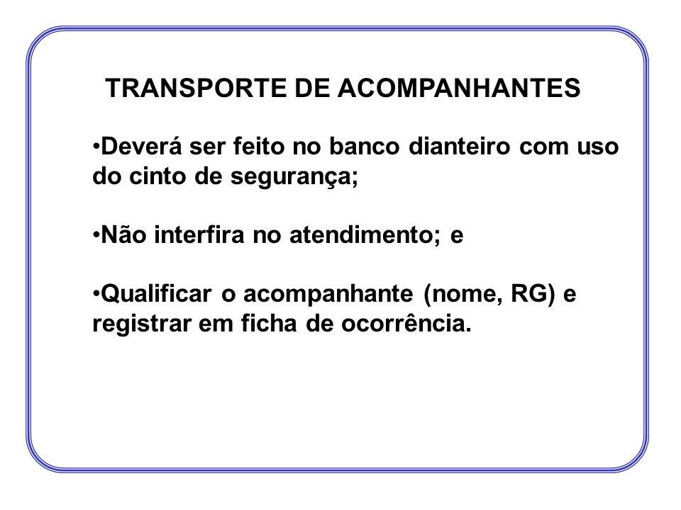 TRANSPORTE DE ACOMPANHANTES