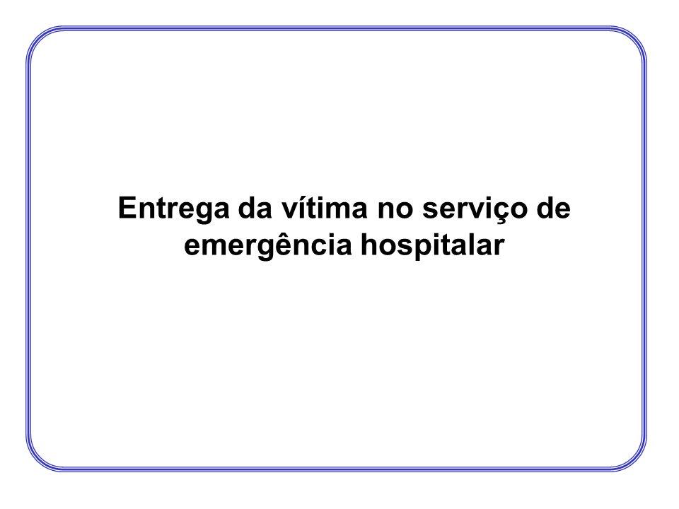 Entrega da vítima no serviço de emergência hospitalar
