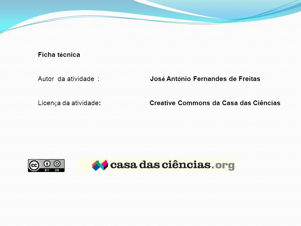 Ficha técnica Autor da atividade : José António Fernandes de Freitas.