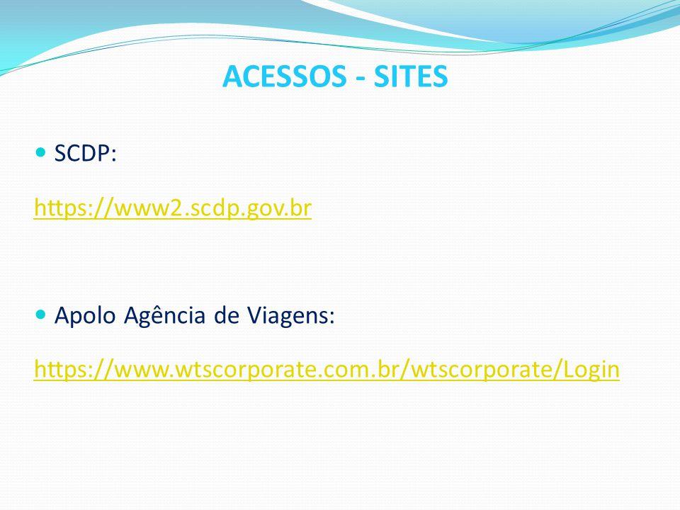 ACESSOS - SITES SCDP: https://www2.scdp.gov.br