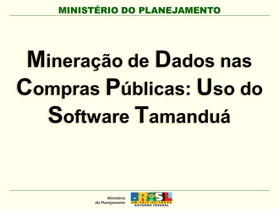 Mineração de Dados nas Compras Públicas: Uso do Software Tamanduá