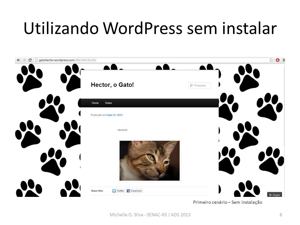 Utilizando WordPress sem instalar