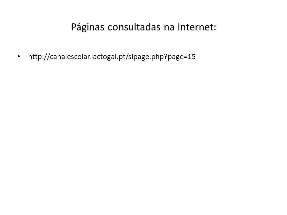 Páginas consultadas na Internet: