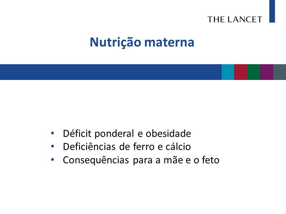 Nutrição materna Déficit ponderal e obesidade
