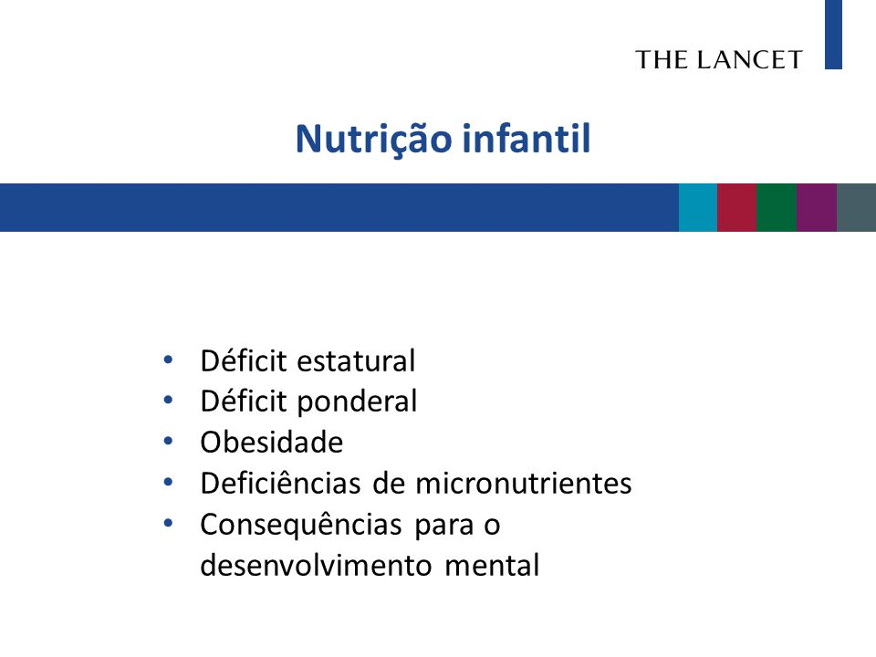 Nutrição infantil Déficit estatural Déficit ponderal Obesidade