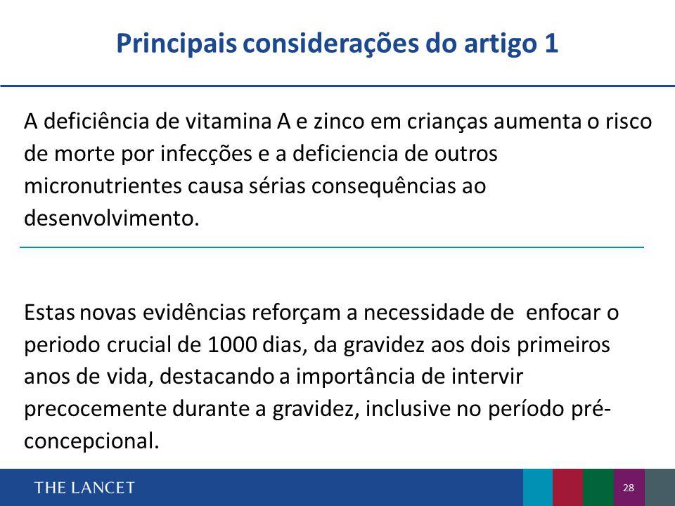 Principais considerações do artigo 1