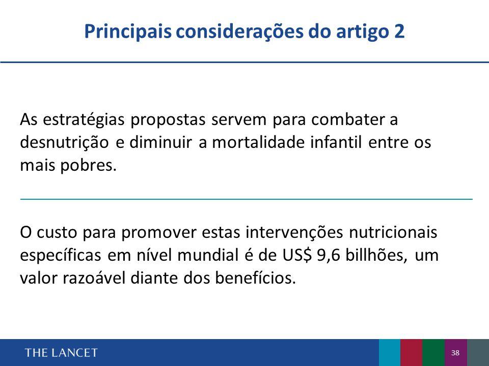 Principais considerações do artigo 2
