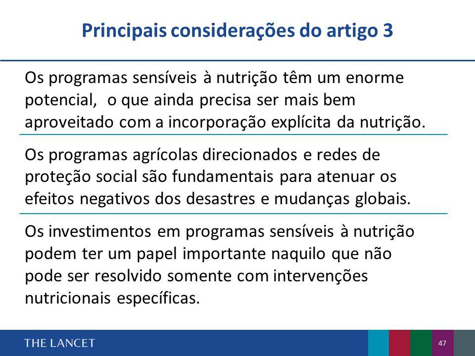 Principais considerações do artigo 3